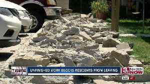 Unfinished Work Causing Residents Concern [Video]
