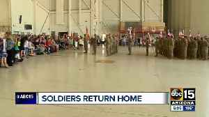 Families welcome Arizona National Guard soldiers home [Video]