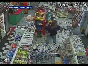 Hollywood Police Searching For Suspect Who Trashed Gas Station Convenience Store & Attacked Clerk [Video]