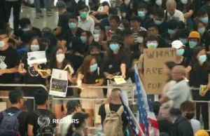 'Democracy now': Protesters stage sit-in at Hong Kong airport [Video]