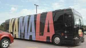 Day 1 of Kamala Harris' Iowa bus tour [Video]