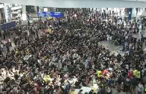 News video: 'Democracy now': Protesters at Hong Kong airport