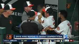 Davis, Hyde respond to dugout confrontation [Video]