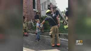Boy Hands Out Ice Cream To Baltimore Co. Firefighters [Video]