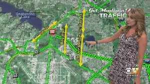 Grapevine Drivers Advised To Seek Alternate Routes As 121 Closes During Tax Free Weekend [Video]