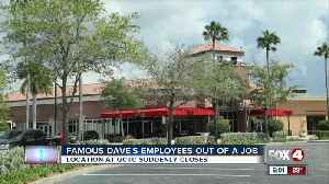 Famous dave's employees out of a job [Video]
