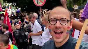 Plock city in Poland holds its first gay pride parade [Video]