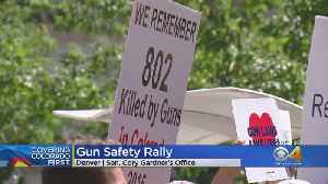 Rally For Gun Safety Held At Gardner's Office [Video]
