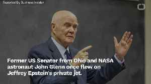 News video: John Glenn Passenger On Jeffrey Epstein's Jet In 1996