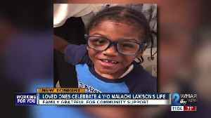 Loved ones celebrate 4-year-old Malachi Lawson [Video]