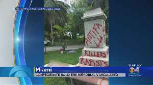 Graffiti Artists Target Confederate Monument At Miami's Oldest Cemetery [Video]