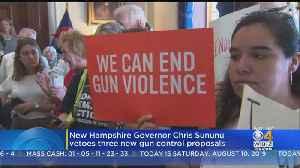 New Hampshire Governor Vetoes 3 Gun Control Bills [Video]