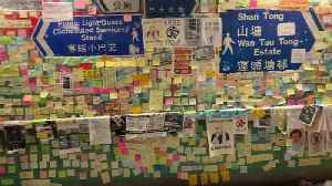 News video: Hong Kong protesters gather in Tai Po for afternoon march