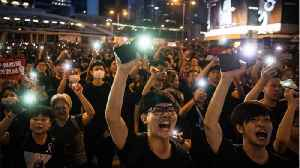 News video: Hong Kong Protesters Defy Police Ban