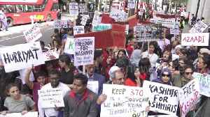 Angry Kashmir protest held outside Indian embassy in London [Video]