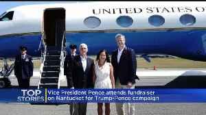 Gov. Baker Greets Vice President Mike Pence On Nantucket [Video]