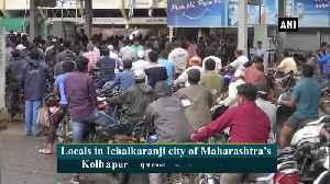 Locals queue up at petrol pump in flood hit Kolhapur [Video]