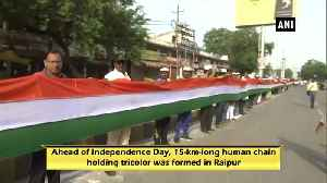 News video: Independence Day 15-km-long human chain formed to honour tricolor in Raipur