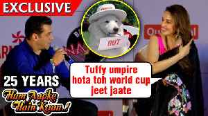Salman Khan Madhuri Dixit Remember TUFFY From Hum Aapke Hain Koun | 25 Years Screening [Video]