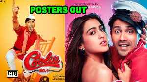 'Coolie No.1' POSTERS OUT | Meet Sara & Varun's AVATARS [Video]