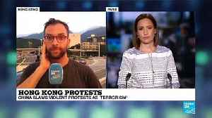 Charles Pellergin reports from outside Hong Kong airport [Video]