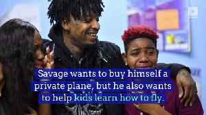 21 Savage Wants to Open a Pilot School [Video]