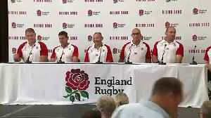 News video: Eddie Jones discusses England World Cup squad at presser