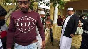 Muslims sacrifice sheep during Eid al-Adha [Video]