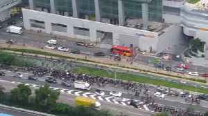 Thousands of protesters leave Hong Kong airport after forcing shutdown [Video]