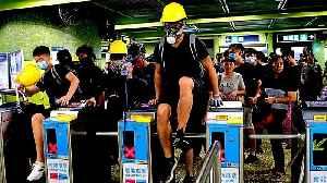 News video: Hong Kong protesters change tactics