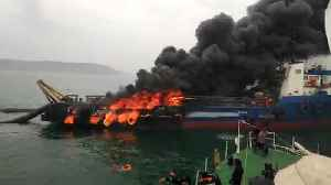 Massive fire on Offshore Support Vessel Coastal Jaguar, 28 rescued [Video]