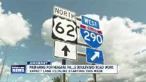 Preparing for Niagara Falls Boulevard Road Work [Video]