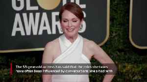 Julianne Moore inspired by family chats [Video]