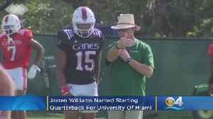 Jarren Williams Named University of Miami Starting Quarterback [Video]