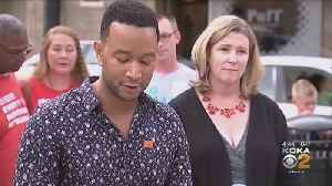 John Legend Visits Residents Of Dayton In Wake Of Shooting [Video]