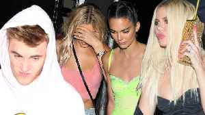 Kendall Jenner & Khloe Kardashian DITCH Kylie Jenner's Bday To Hang Out With Justin & Hailey Bieber [Video]