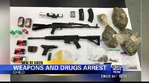Chico man arrested for violating restraining order with assault rifles, illegal fireworks and drugs [Video]