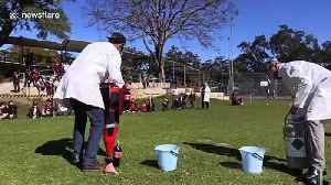 Australian science teachers amuse students with giant cola-powered rocket launch [Video]