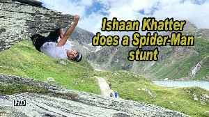 Ishaan Khatter does a Spider-Man stunt [Video]