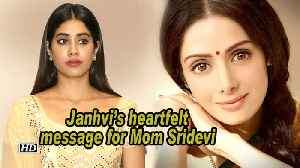 Janhvi's heartfelt message for Mom Sridevi on her 56th birth anniversary [Video]