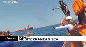 More than 500 rescued migrants on two NGO ships remain stranded [Video]