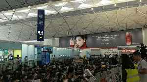 News video: Sit-In at Hong Kong Airport Prompts 2nd Day of Flight Cancellations