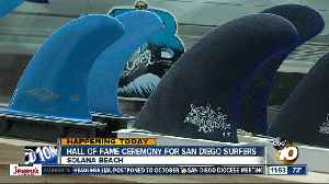 Ceremony for first inductees to San Diego Surfing Hall of Fame [Video]