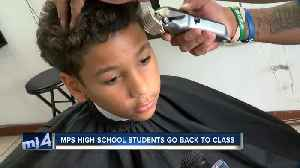 Local barbershop provides free haircuts for children before their first day of school [Video]