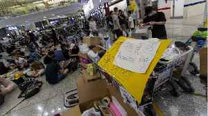 News video: Hong Kong's Airport Reopens After Mass Protests Shut It Down
