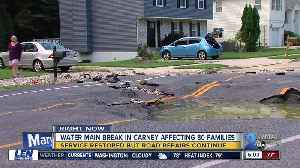 Carney neighbors frustrated with yet another water main break [Video]