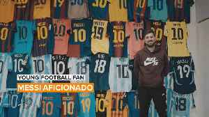 Young Football Fan: This guy knows what he wants and it's Messi jerseys [Video]