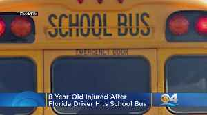 Florida Driver Hit School Bus, 8-Year-Old Injured [Video]