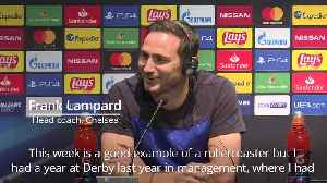 Frank Lampard is prepared for Chelsea 'rollercoaster' [Video]