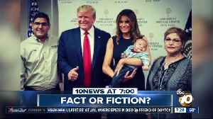 Trump gave thumbs up next to baby orphaned in massacre? [Video]